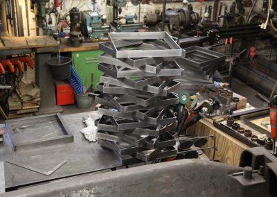 Stahlrahmen für Rémy Markowitsch Installation Psychomotor I Foto: AK