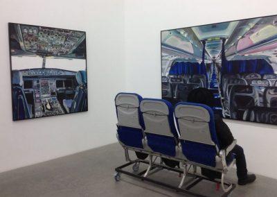 """""""Flugzeugsitze"""" für Austellung von Jana Euler in der Galerie Neu Berlin I Foto: WK"""