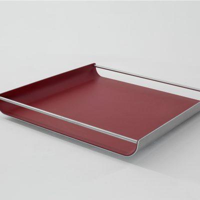 Tablett Milu mit Aluminiumsteg 37x37 cm