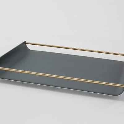 Tablett Milu mit Messingsteg 29x42 cm